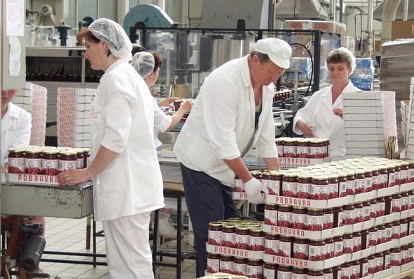 Tvornica voće Podravka u kojoj se proizvode pekmezi i marmelade