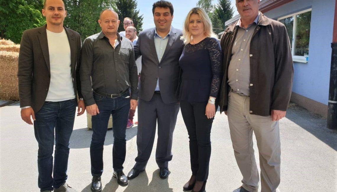Gradonačelnik Križevaca Mario Rajn s Bandićevim ljudima