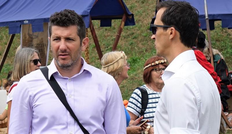 Dejan Kovač, predsjednički kandidat HSLS-a na Renesansnom festivalu u Koprivnici