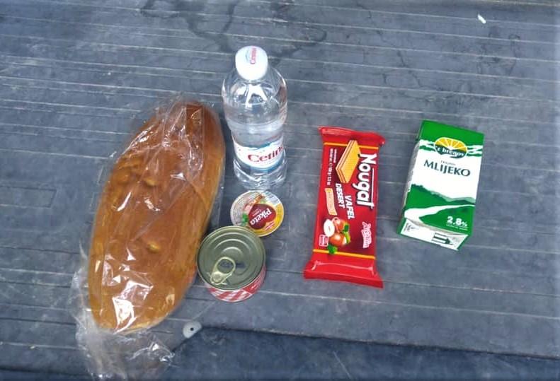 Suhi obrok koji dobiva granična policija