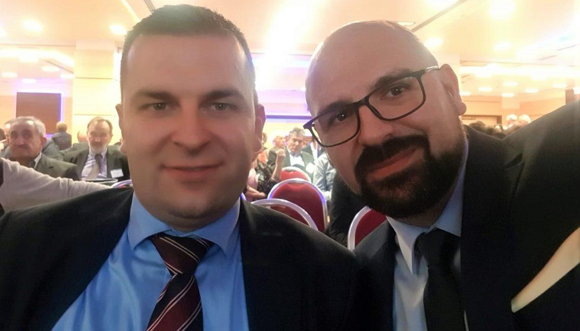Dario Hrebak i Tomislav Stipić na izbornom saboru stranke