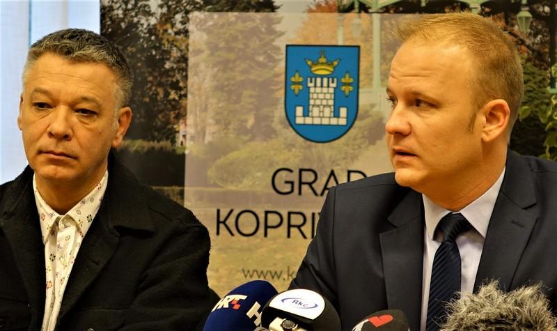 Arhitekt Hrvoje Njirić i gradonačelnik Koprivnice Mišel Jakšić