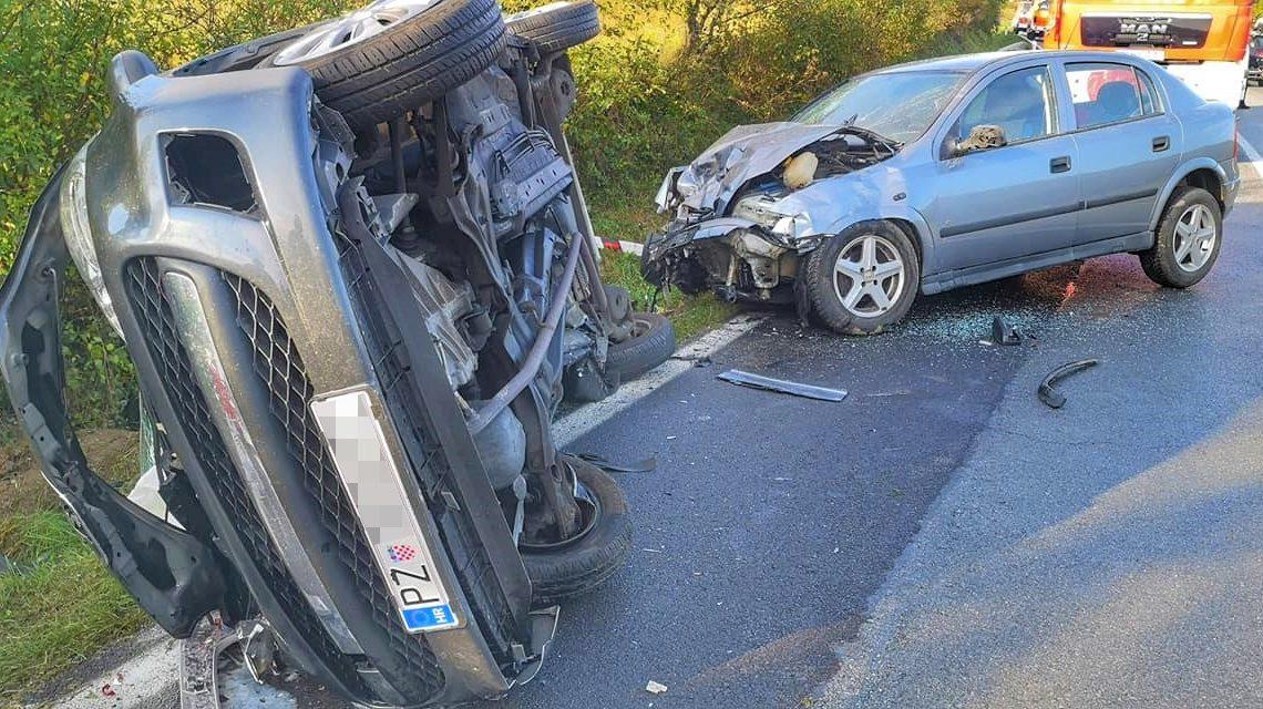 Teška prometna nesreća Požega Nova Gradiška, četiri osobe ozlijeđene